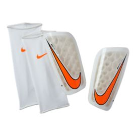Nike Mercurial Flylite Shin Guard - White/Total Orange