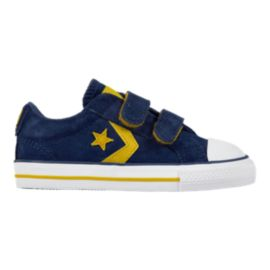 Converse Toddler Star Player 2V Shoes - Navy/Yellow/White