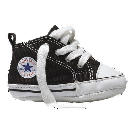 ec5b8737b86e Converse Baby First Star Crib Shoes - Black White