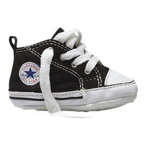 5c9a92c0b04e1b Converse Baby First Star Crib Shoes - Black White