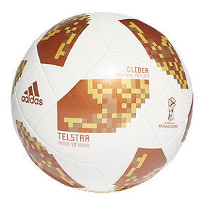 adidas World Cup 2018 Glider Size 5 Soccer Ball - White/Copper Gold