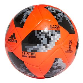 adidas World Cup 2018 Glider Size 5 Soccer Ball - Solar Red Black a762682eb4