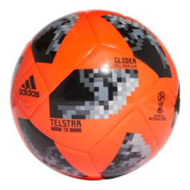 adidas World Cup 2018 Glider Size 4 Soccer Ball - Solar Red/Black