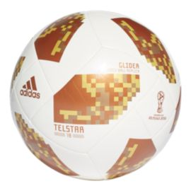 adidas World Cup 2018 Glider Size 3 Soccer Ball - White/Copper Gold