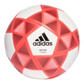 adidas Predator Glider Size 5 Soccer Ball - White/Real Coral