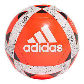adidas Starlancer Size 5 Soccer Ball - Solar Red/White