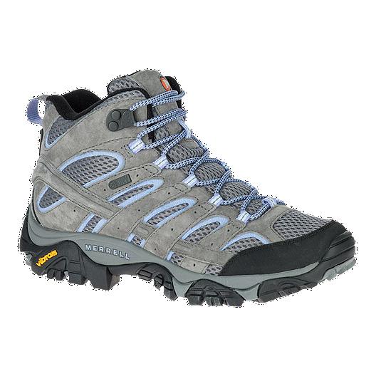 8ddf05faa Merrell Women s Moab 2 Mid Waterproof Hiking Boots - Grey Periwinkle ...
