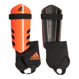 adidas Ghost Youth Soccer Shin Guards - Black/Solar Red