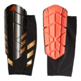 adidas Ghost Pro Soccer Shin Guard - Black/Solar Red/Gold