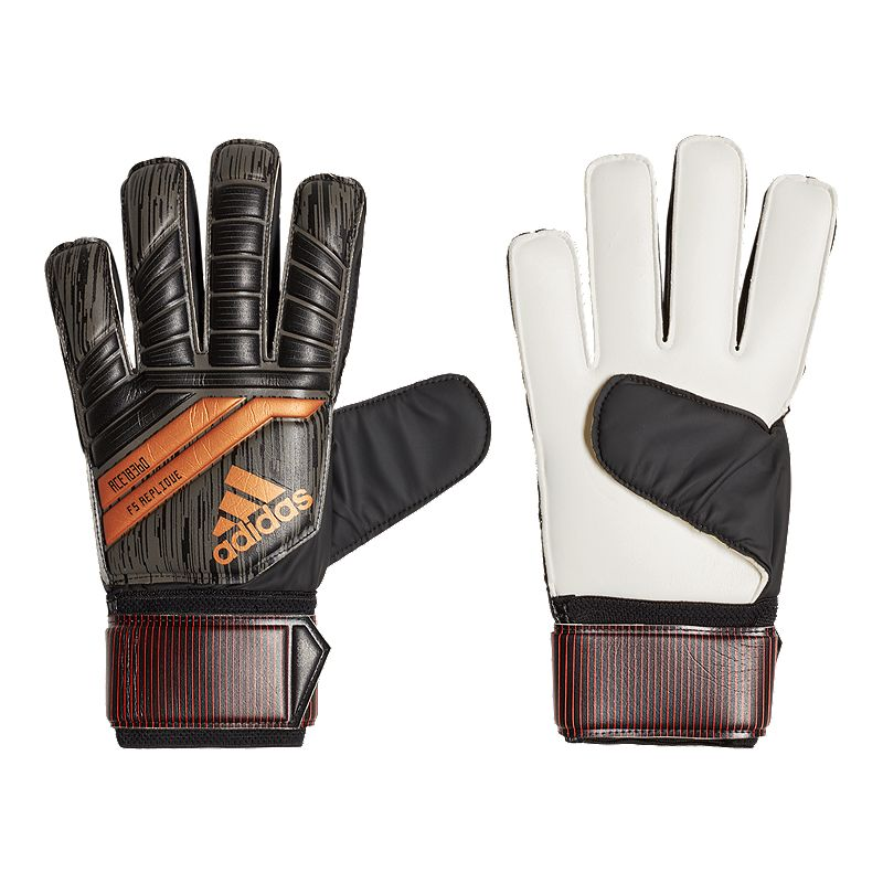 48c8a7a3cd73 adidas Ace 18 Fingersave Replique Goalkeeper Gloves - Black/Copper Gold/Solar  Red (