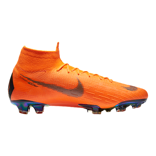 release date: eb0c6 a9f12 Nike Men s Mercurial Superfly 6 Elite FG Outdoor Soccer Cleats - Orange  Black Volt