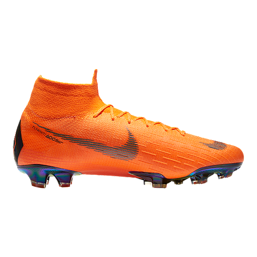 Nike Men s Mercurial Superfly 6 Elite FG Outdoor Soccer Cleats -  Orange Black Volt Green  b411913d4