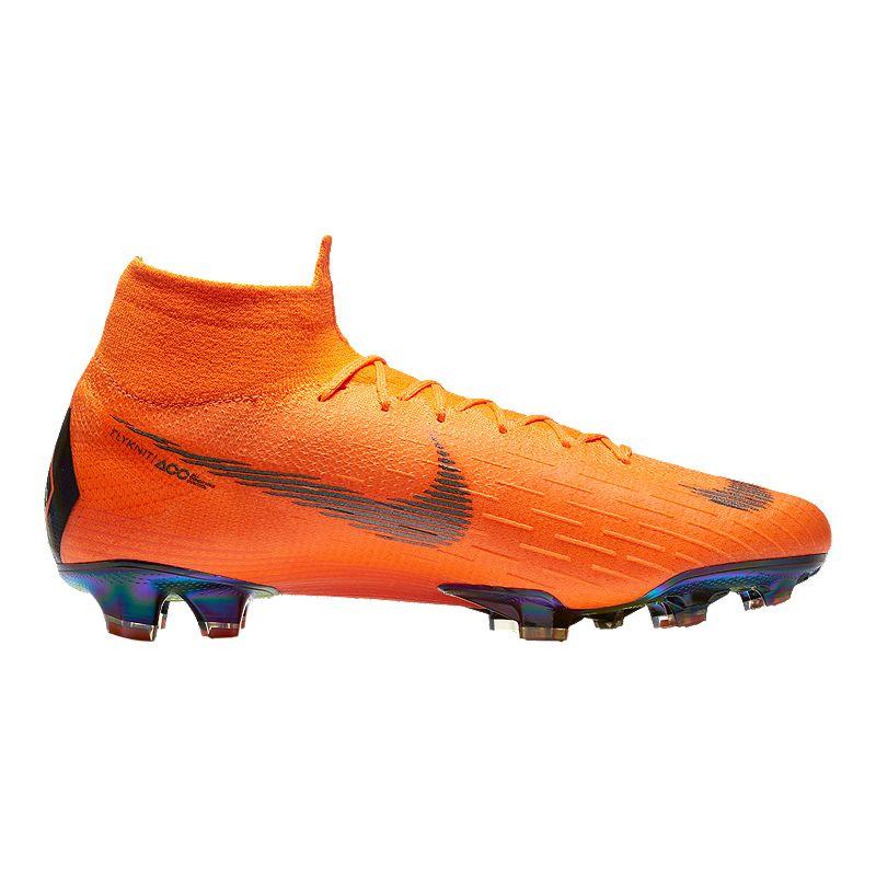 a7f9d8adb52 Nike Men s Mercurial Superfly 6 Elite FG Outdoor Soccer Cleats -  Orange Black Volt