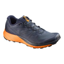 Salomon Men's Sense Ride Trail Running Shoes - Navy/Orange/Blue