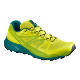 Salomon Men's Sense Ride Trail Running Shoes - Green/Blue