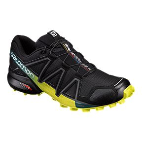 266476af7008 Salomon Men s Speedcross 4 Trail Running Shoes - Black Yellow