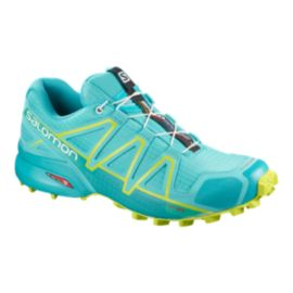 Salomon Women's Speedcross 4 Trail Running Shoes - Blue/Green