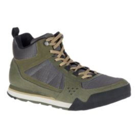 Merrell Men's Burnt Rock Tura Mid Vent Shoes - Dusty Olive