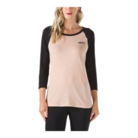 Vans Women's Off The Wall Raglan 3/4 Sleeve T Shirt