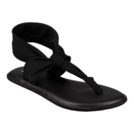 Sanuk Girls' Lil Yoga Sling Ella Sandals - Black