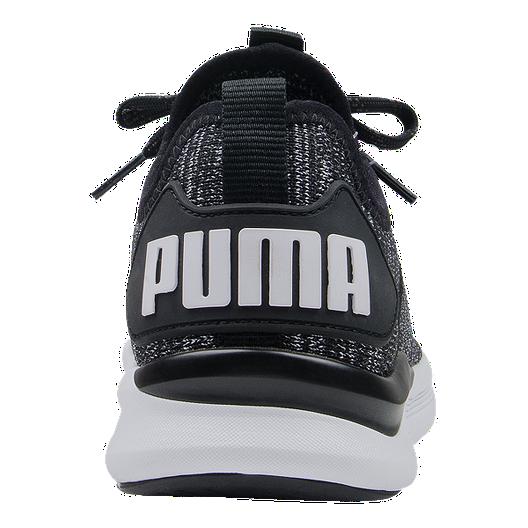 PUMA Kids' Flash EvoKnit Grade School Shoes BlackAsphaltWhite