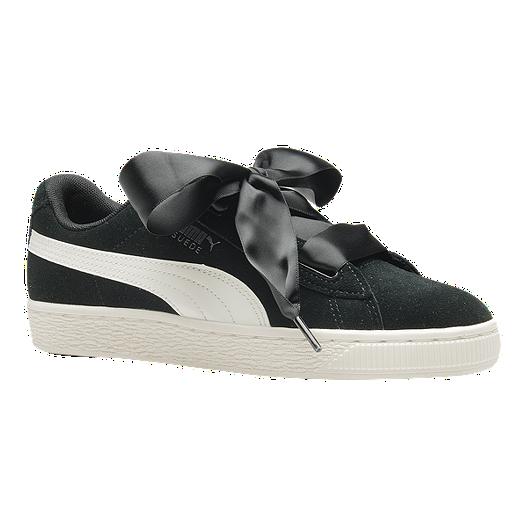 aad7b677fa03 PUMA Girls' Suede Heart Jewel Grade School Shoes - Black/Crimson | Sport  Chek