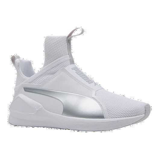 3b4f88cb906c PUMA Girls  Fierce Grade School Shoes - White Silver