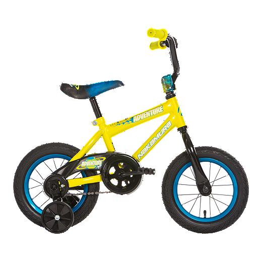 Nakamura Adventure 12 Kids Training Bike 2018 Yellow Blue Sport