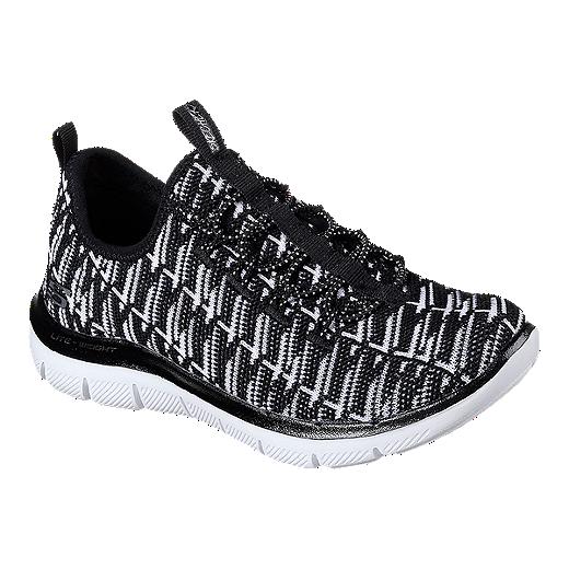 skechers running shoes for girls black