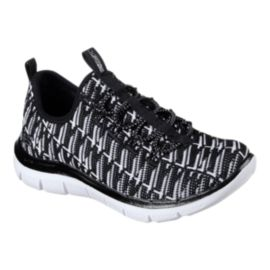 Skechers Girls' Skech-Appeal Shoes - Black/White/All Over Print