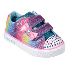 Skechers Toddler Girls' Twinkle Breeze 2.0 Shoes - Multi-colour/Sparkle