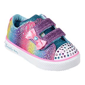 Skechers Toddler Girls  Twinkle Breeze 2.0 Shoes - Multi-colour Sparkle 88a160bbd1