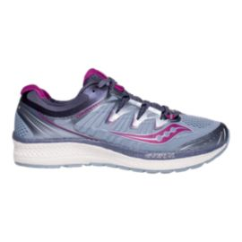 Saucony Women's Triumph ISO 4 Wide Width Running Shoes - Purple/Grey