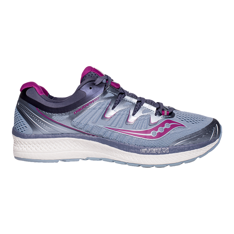 80c235dbdc63 Saucony Women s Triumph ISO 4 Wide Width Running Shoes - Purple Grey ...