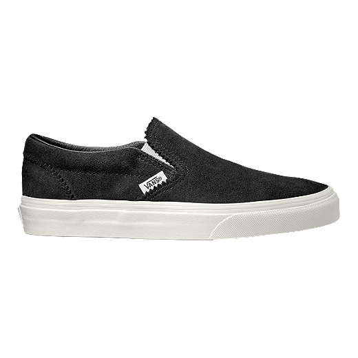 45650a90d2222 Vans Classic Slip-On Suede Shoes - Licorice/White