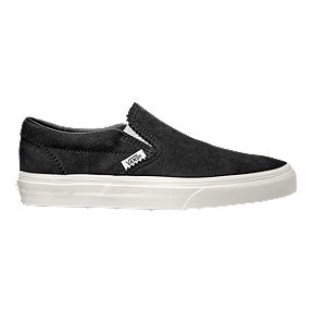 3933efb1d4 Vans Classic Slip-On Suede Shoes - Licorice White