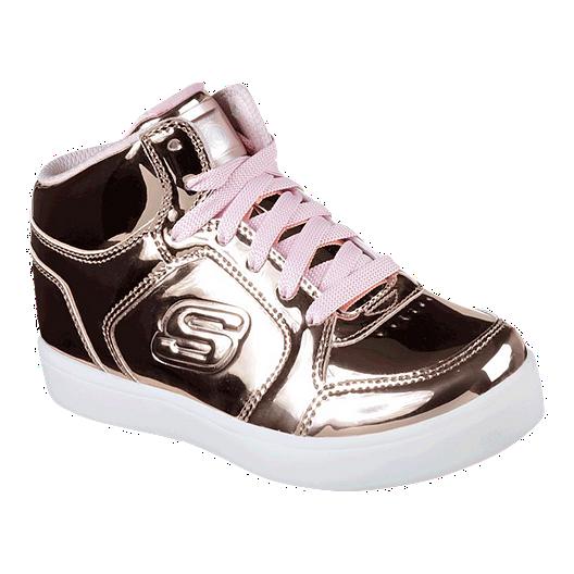 premium selection 8eac0 514cd Skechers Girls  Energy Lights Elliptic Shoes - Gold White   Sport Chek
