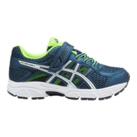 ASICS Kids' Gel- Contend Preschool Running Shoes - Navy/Green