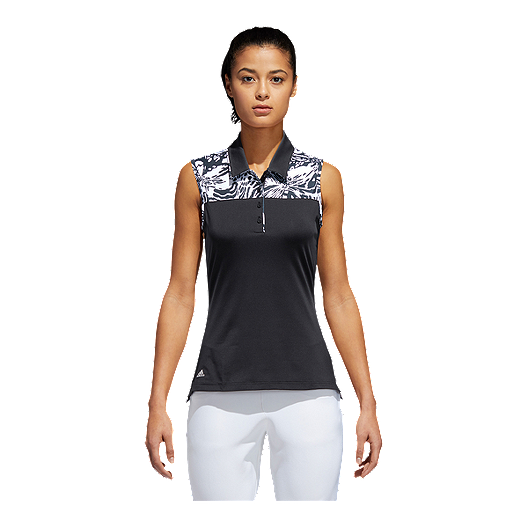 5aea9056cf3244 adidas Golf Women s Ultimate365 Merch Sleeveless Polo Shirt