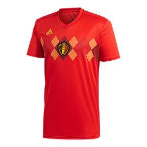 13b3f1be1a28 adidas Men s Belgium 2018 Home Replica Soccer Jersey