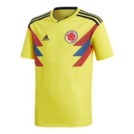 adidas Colombia Kids' 2018 Home Replica Soccer Jersey