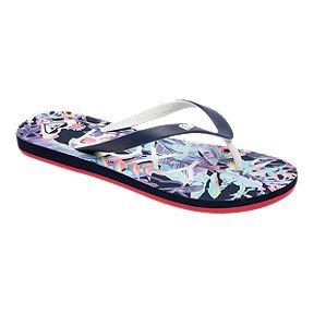 Roxy Women's Tahiti VI Flip Flop Sandals - Blue