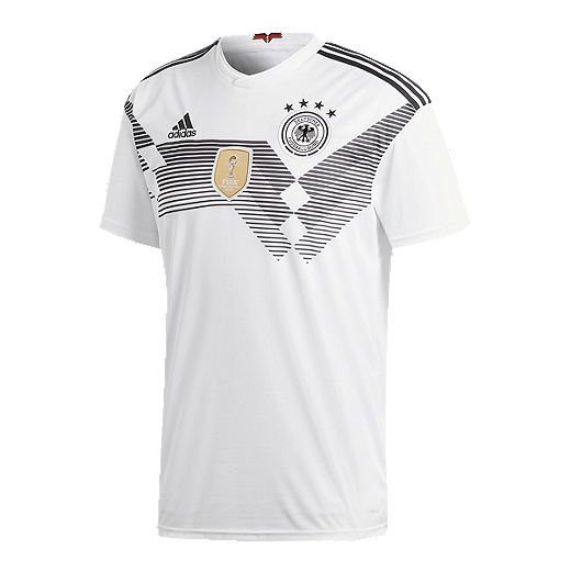 a80807a32 adidas Men s Germany 2018 Home Replica Soccer Jersey - WHITE