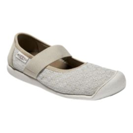 Keen Women's Sienna Mary Jane Knit Shoes - Silver/White