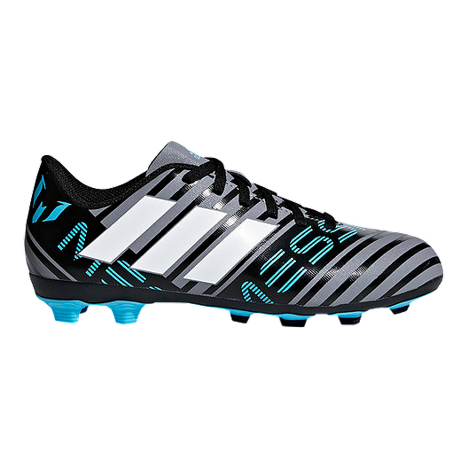 competitive price better incredible prices adidas Kids' Nemeziz Messi 17.4 Firm Ground Outdoor Soccer Cleats -  Grey/White