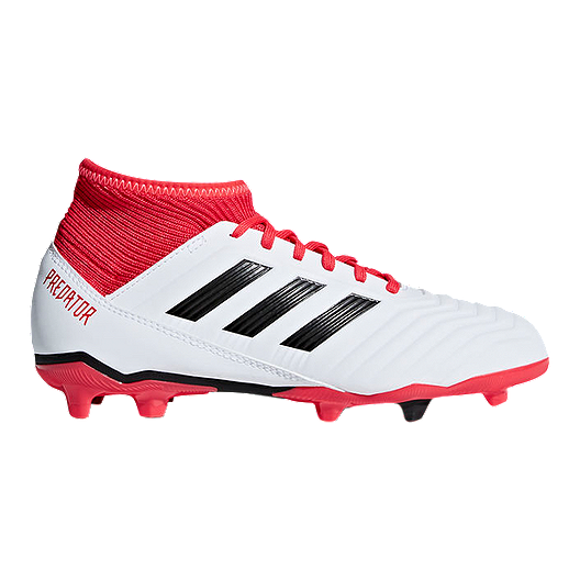 9b23e1b7e64 adidas Kids  Predator 18.3 Firm Ground Outdoor Soccer Cleats - White Black  Red