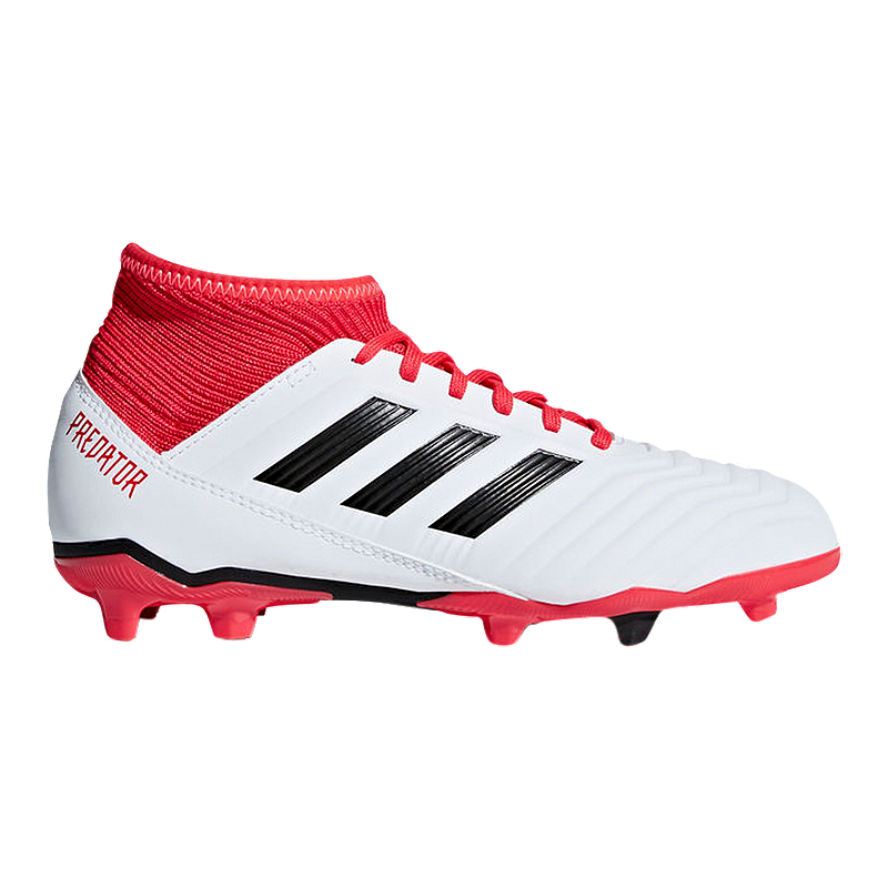 separation shoes 938ba df619 adidas Kids  Predator 18.3 Firm Ground Outdoor Soccer Cleats - White Black  Red   Sport Chek