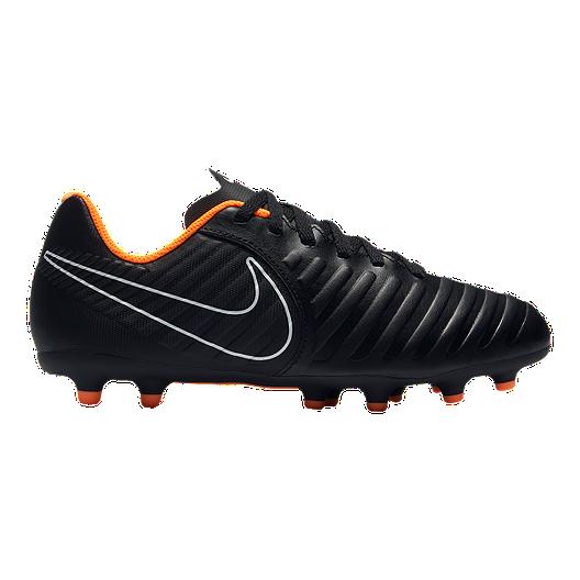 d6d2e61fd Nike Kids' Tiempo Legend 7 Club Firm Ground Grade School Outdoor Soccer  Cleats - Black/Orange | Sport Chek