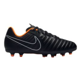 Nike Kids' Tiempo Legend 7 Club Firm Ground Grade School Outdoor Soccer Cleats - Black/Orange
