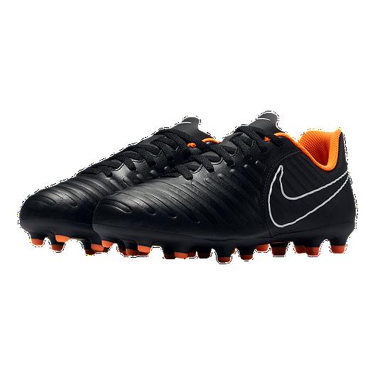 806f99186 Nike Kids' Tiempo Legend 7 Club Firm Ground Grade School Outdoor Soccer  Cleats - Black/Orange. (1). View Description